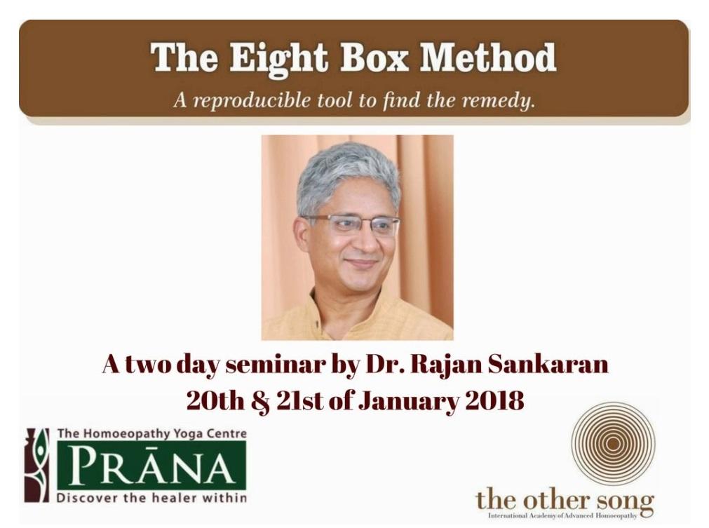 Origin of Eight Box Method - Dr. Rajan Sankaran